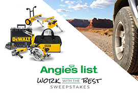 Angies List Work with the Best Sweepstakes