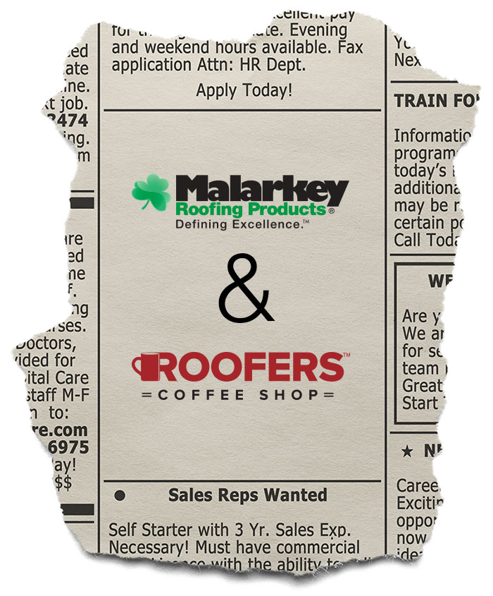 roofers coffee shop classified