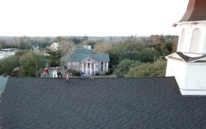 Trey-Norris-with-New-South-Roofing-Inc-in-Tallahassee-FL-2-Waving-Roofers