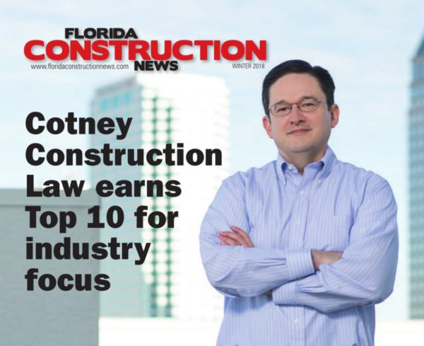 Cotney Construction Law Earns Top 10 For Industry Focus