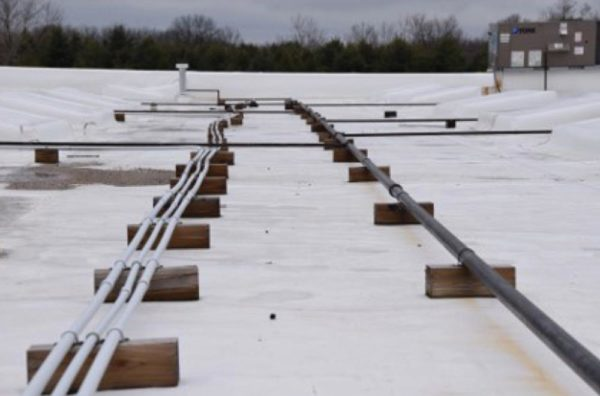 Replacing Wood Sleepers On A Low Slope Roof
