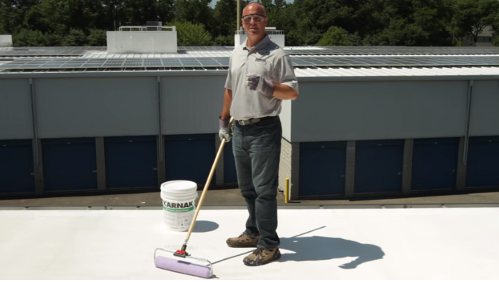 How To Apply White Roof Coatings Over Low Slope Asphalt