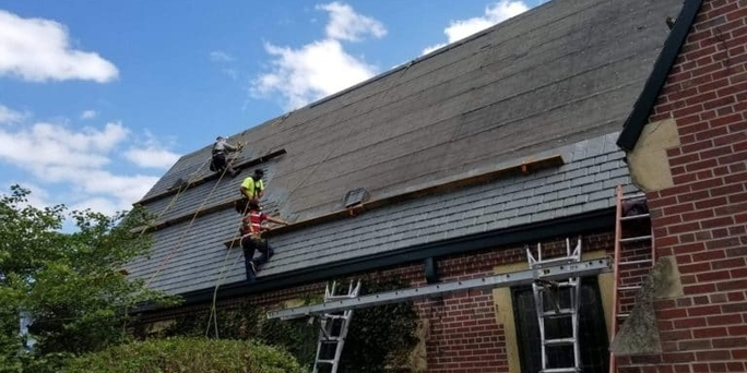 DaVinci Campus gets new Composite Slate Roofing