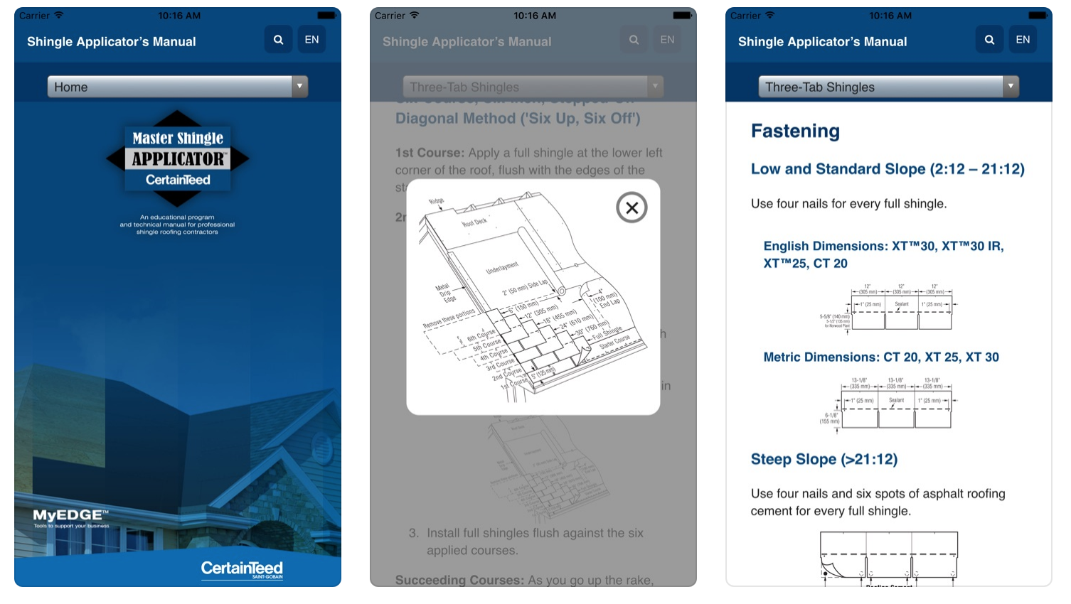 Certainteed Shingle Application App