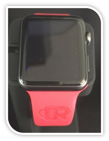 APPLE WATCH WITH RCS LOGO