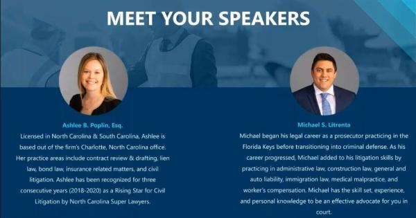 Cotney Construction Law - Meet your Speakers