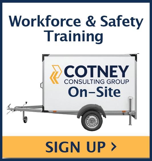 Cotney Consulting Group - Sidebar Ad - On-Site Training 20 -minute Consultation