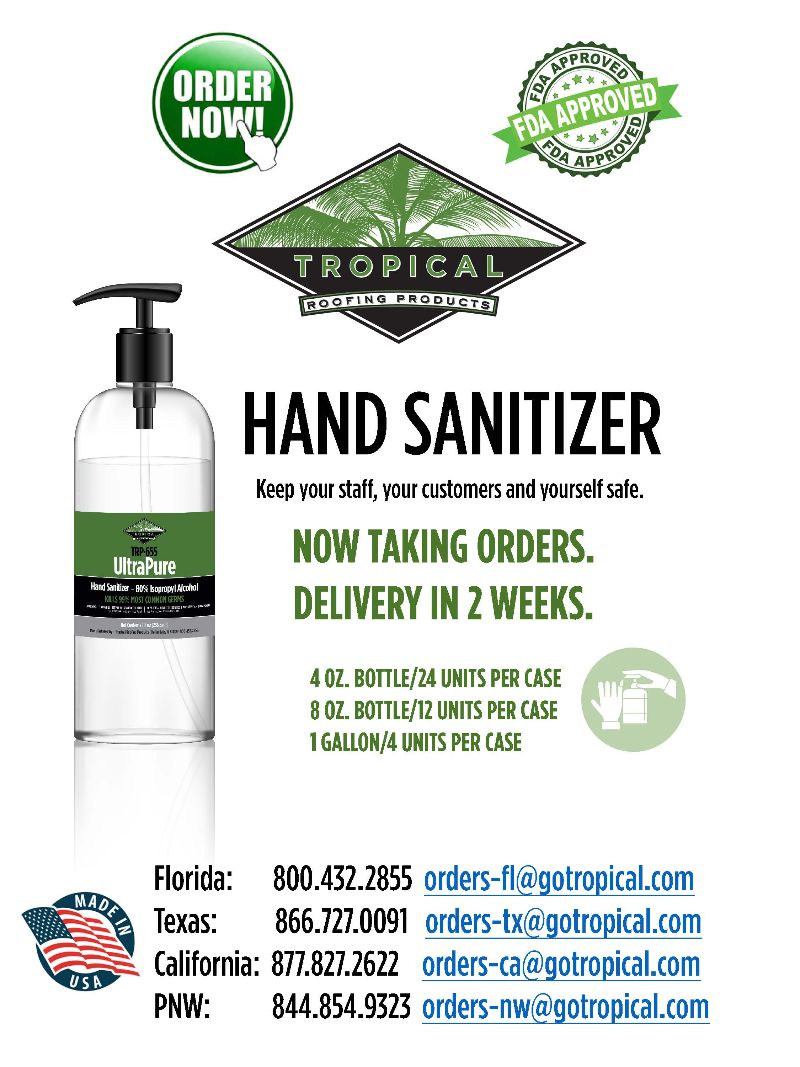 Tropical Roofing Hand Sanitizer