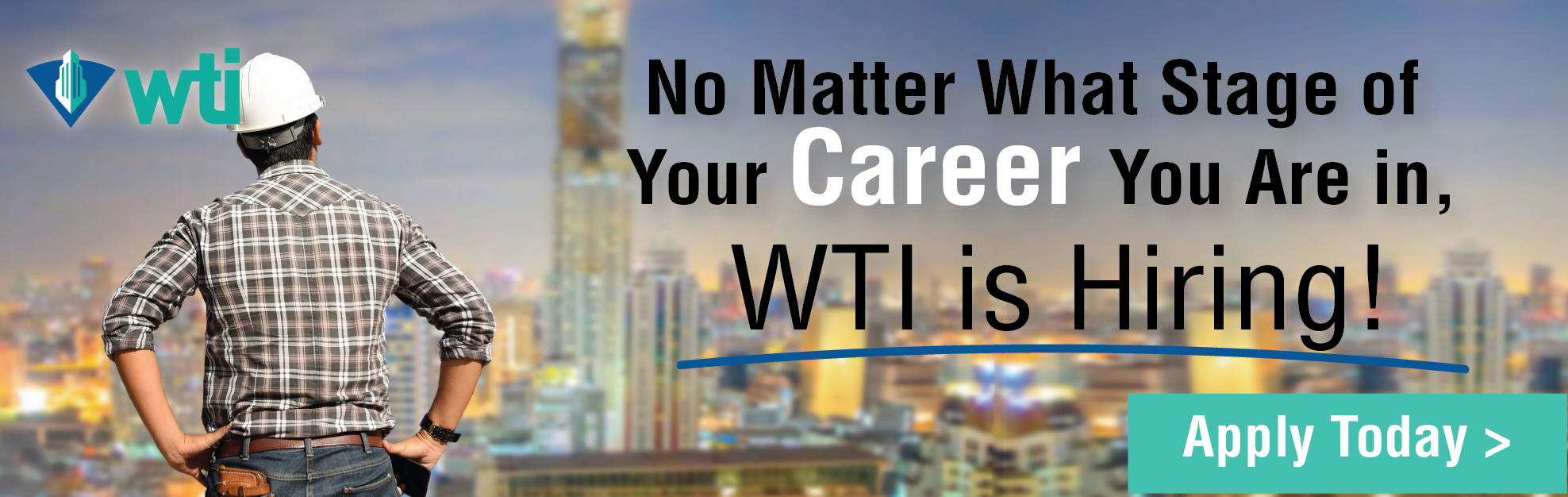 WTI - Billboard Ad - WTI is Hiring!