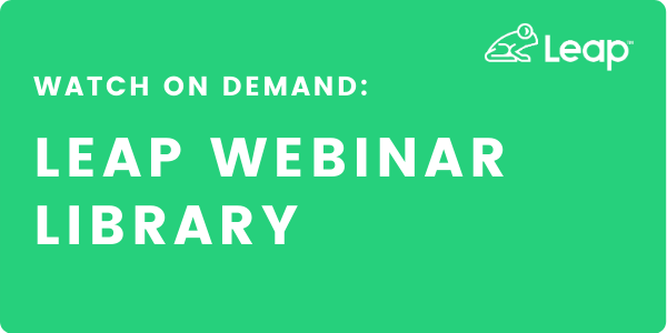 Leap Webinars On Demand
