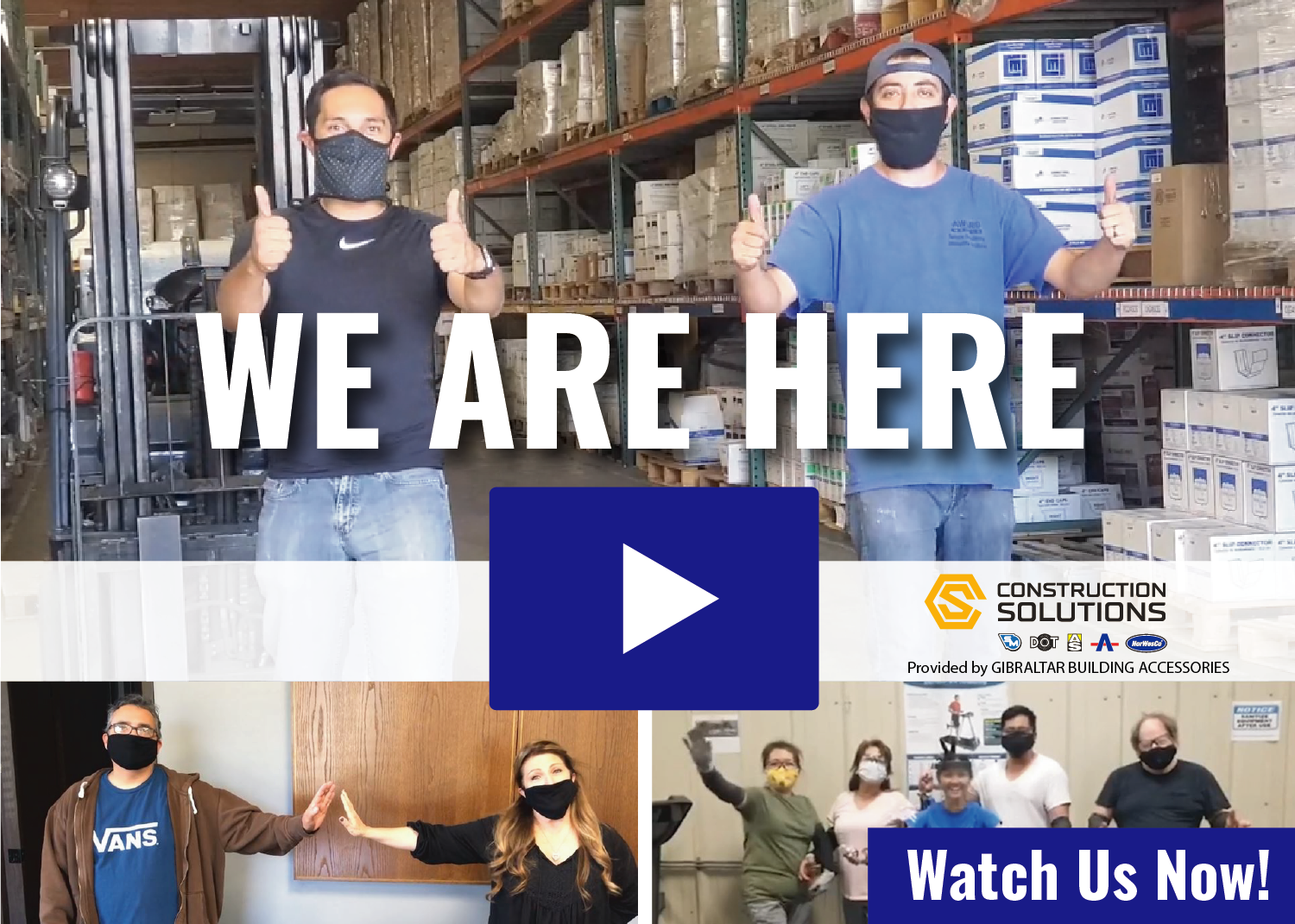 "Construction Solutions - ""We Are Here"" video"