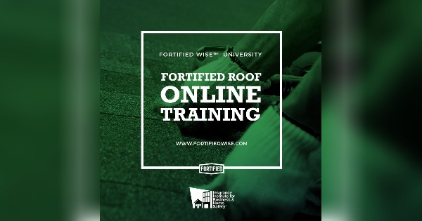 FORTIFIED Wise™- Online Roofing Contractor Training