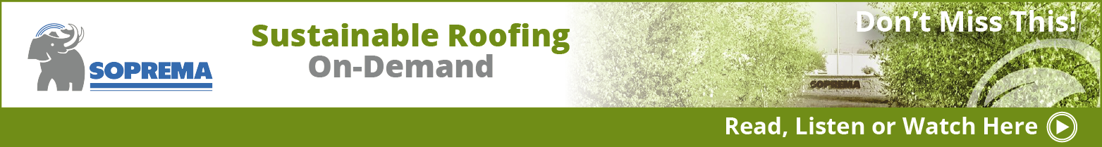 SOPREMA - Banner Ad -  Sustainable Roofing Webinar - RLW On Demand