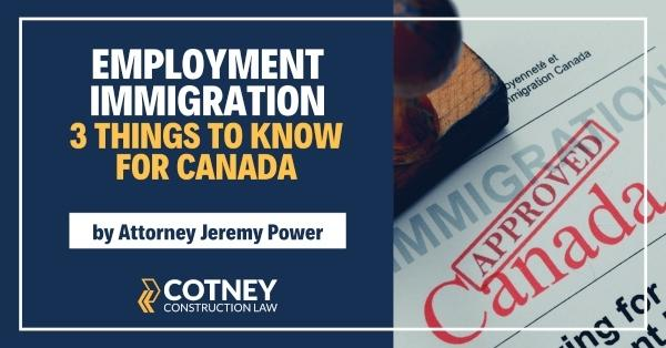 Cotney Construction Law Employment Immigration