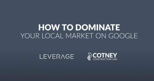 LEVERAGE Webinar with Trent Cotney