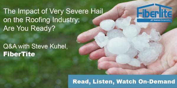 FiberTite - Will Your Roof Withstand Very Severe Hail?