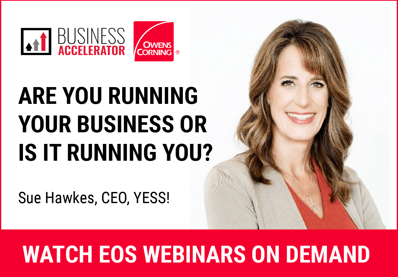 Owens Corning - Navigational Ad - Sue Hawk Webinar On Demand