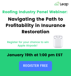 Leap - Sidebar Ad - Navigating the Path to Profitability in Insurance Restoration