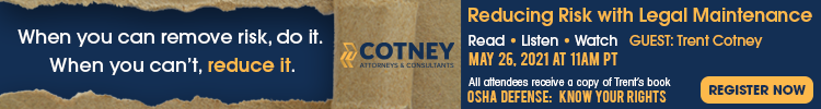 Cotney Attorneys & Consultants - Banner Ad - RLW Reducing Risk with Legal Maintenance